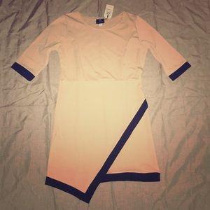 NWT Asymmetrical Bodycon Style Dress